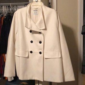 White Old Navy Pea Coat